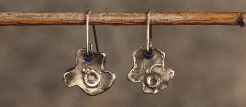 Puzzled Fine Silver Earrings